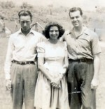 Warren Parker, Ida Mae and Carl Parker - early 1940's