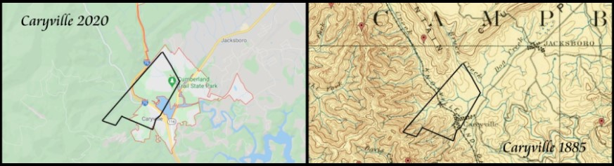 Free Soil Farm Boundaries on 2020 and 1885 Maps